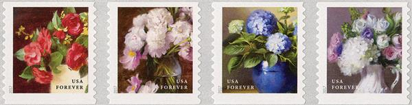 2017 First-Class Forever Stamp - Flowers from the Garden (coil)