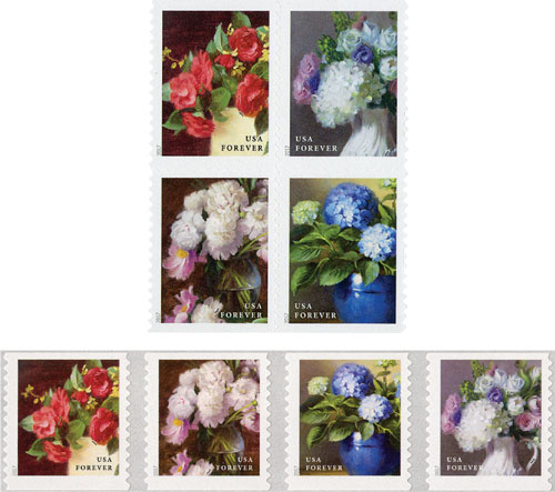 2017 Flowers from the Garden, set of 8 stamps