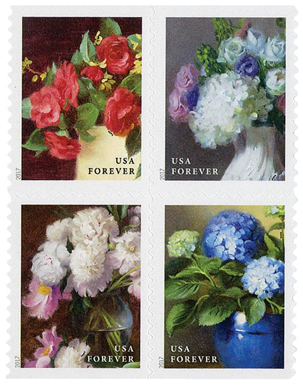 2017 First-Class Forever Stamp - Flowers from the Garden (booklet)