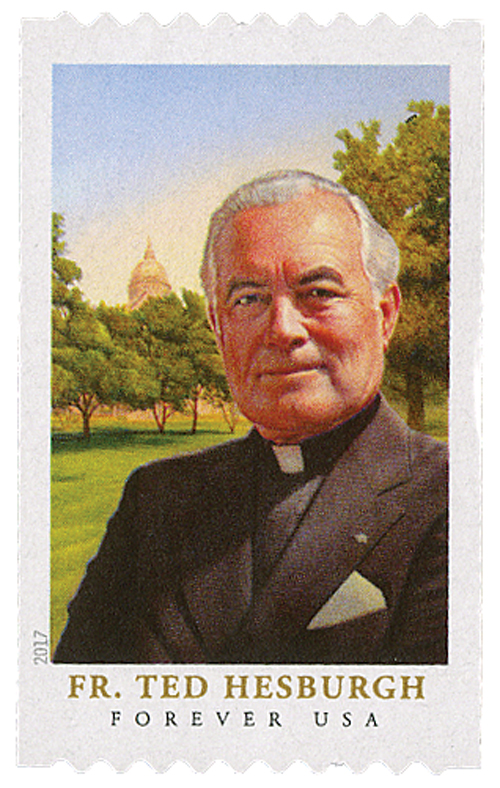 2017 First-Class Forever Stamp - Father Theodore Hesburgh (coil)