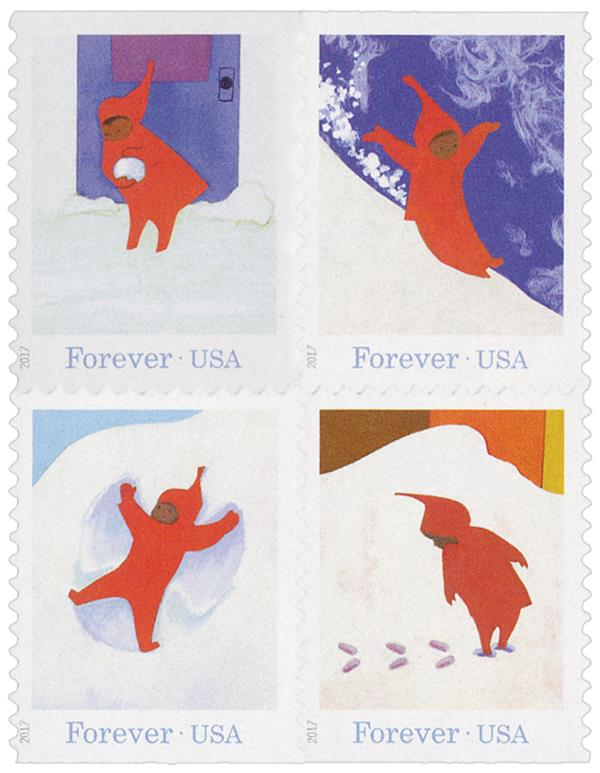 "2017 First-Class Forever Stamp - ""The Snowy Day"" by Ezra Jack Keats"