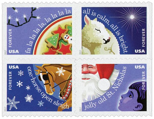 2017 First-Class Forever Stamp - Contemporary Christmas: Christmas Carols