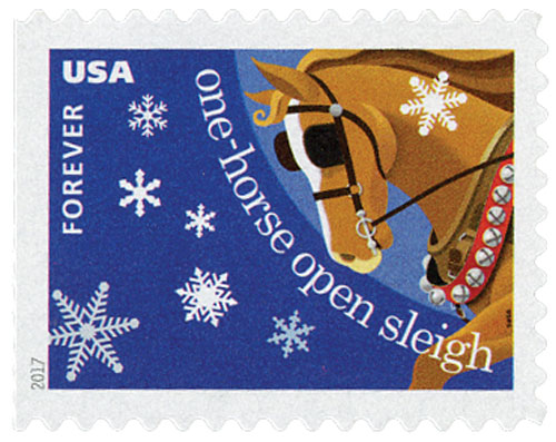 2017 First-Class Forever Stamp - Contemporary Christmas: 'Jingle Bells'