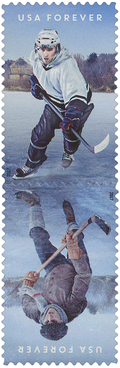 2017 First-Class Forever Stamp - History of Hockey