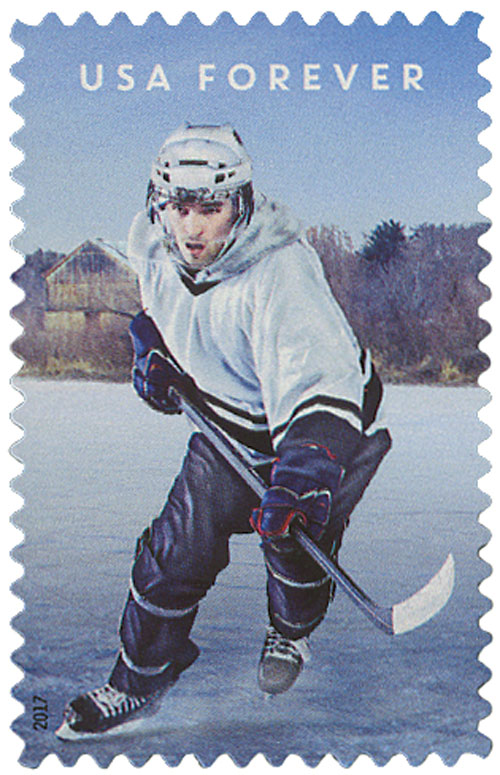 2017 First-Class Forever Stamp - History of Hockey - Modern