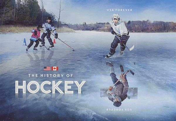 2017 First-Class Forever Stamp - History of Hockey - souvenir sheet