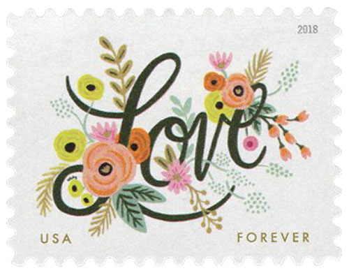 2018 First-Class Forever Stamp - Love Flourishes