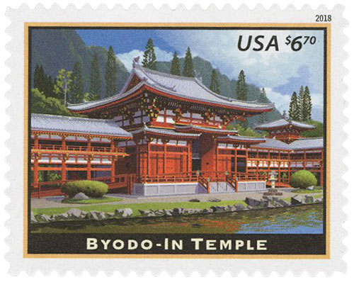 2018 $6.70 Byodo-In Temple, Priority Mail