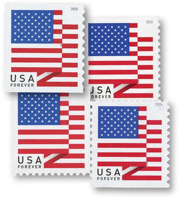 2018 U.S. Flag, set of 4 stamps