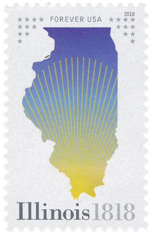2018 First-Class Forever Stamp - Statehood: Illinois Bicentennial