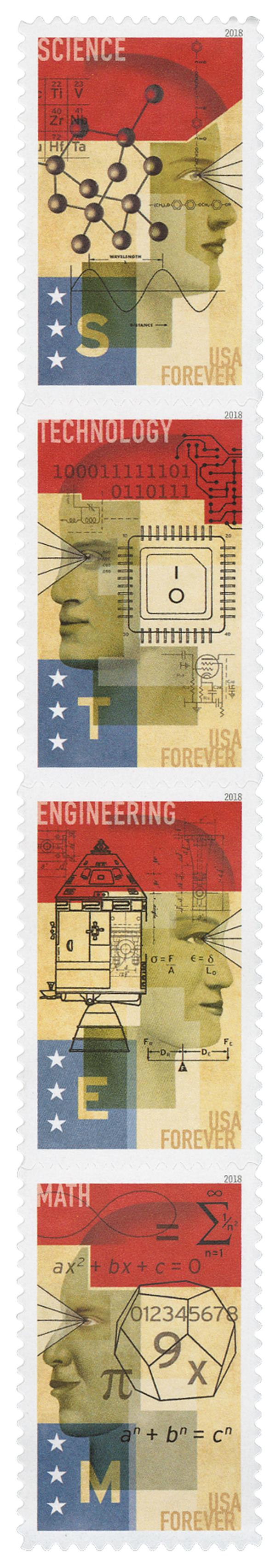 2018 First-Class Forever Stamp - STEM Education