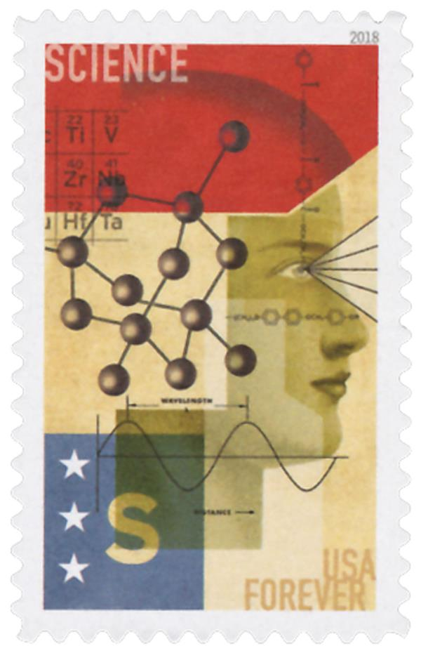 2018 First-Class Forever Stamp - STEM Education: Science