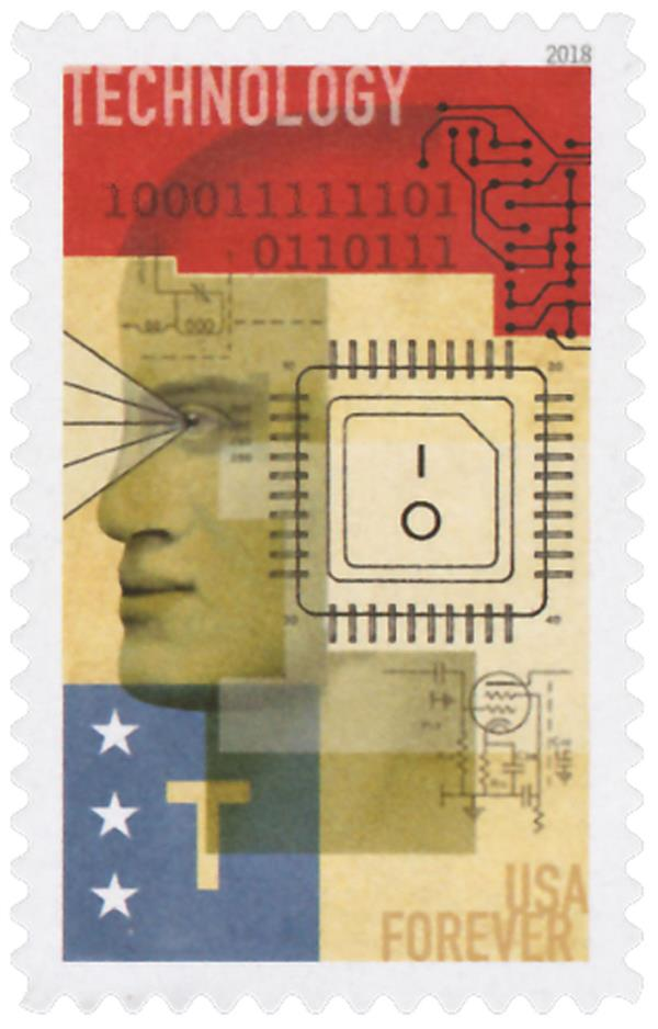 2018 First-Class Forever Stamp - STEM Education: Technology