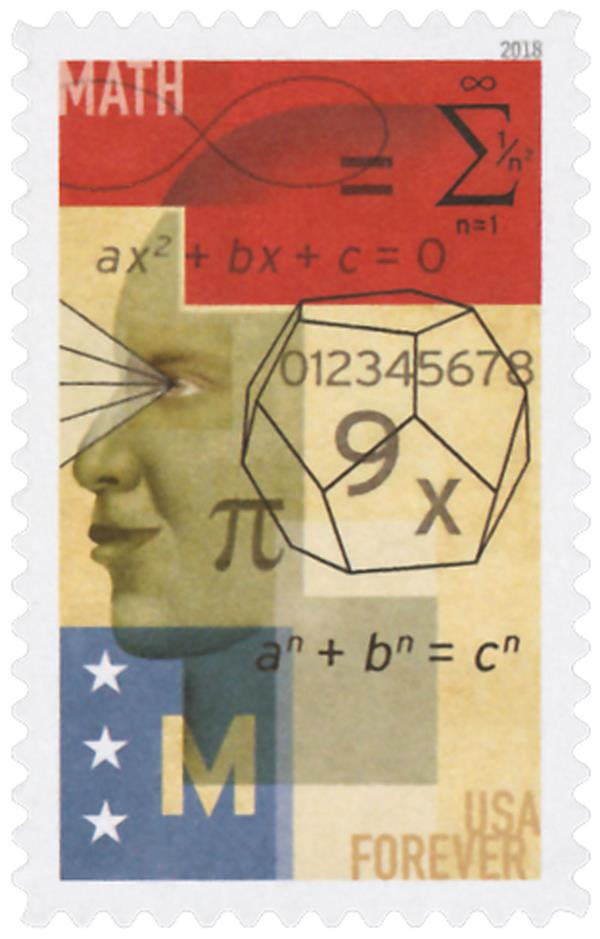 2018 First-Class Forever Stamp - STEM Education: Math