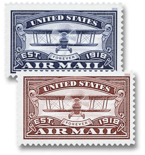 2018 50c Airmail Centenary Stamps, Set of 2