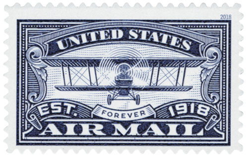 2018 First-Class Forever Stamp -  Blue Airmail Centenary