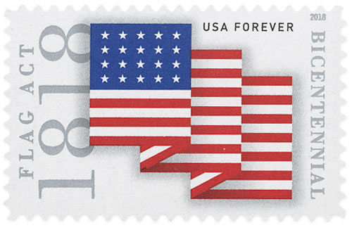 2018 First-Class Forever Stamp - Flag Act of 1818 for sale