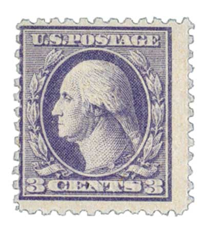 1918 3c Washington, violet, perf 11, type III