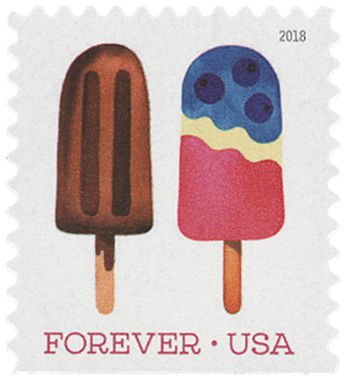 2018 First-Class Forever Stamp - Brown Fudge Bar