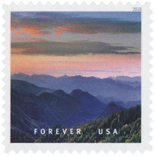 2018 First-Class Forever Stamp - Great Smokey Mountains National Park, North Carolina and Tennessee