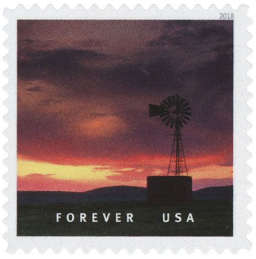 2018 First-Class Forever Stamp - Grasslands Wildlife Management Area in Merced County, California