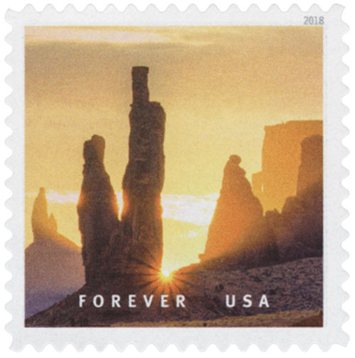 2018 First-Class Forever Stamp - Monument Valley Navajo Tribal Park in Arizona and Utah
