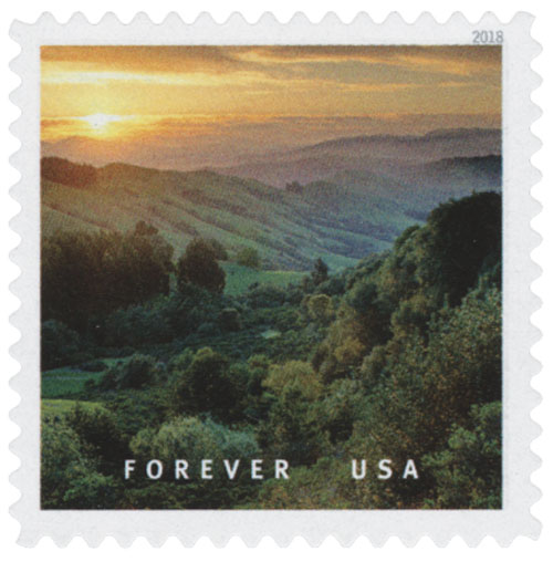 2018 First-Class Forever Stamp - Sunrise near Orinda, California