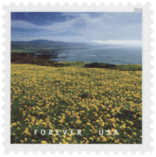 2018 First-Class Forever Stamp - Pigeon Point near Pescadero, California