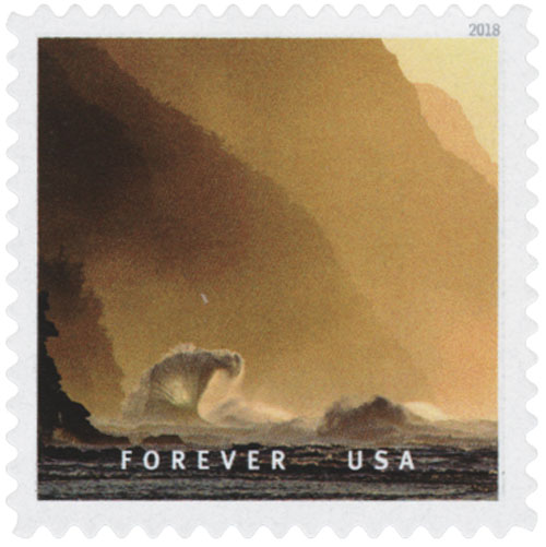 2018 First-Class Forever Stamp - Napali Coast State Wilderness Park, Hawaii