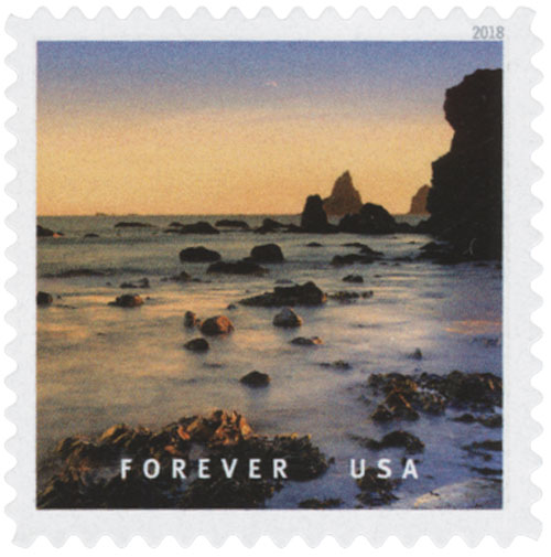 2018 First-Class Forever Stamp - Lone Ranch Beach, Oregon