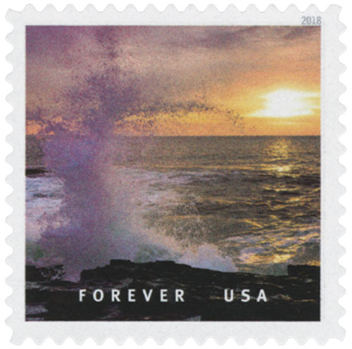 2018 First-Class Forever Stamp - Bailey Island, Maine