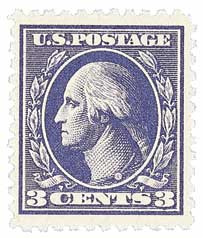 1918 3c Washington, perf 11, type IV