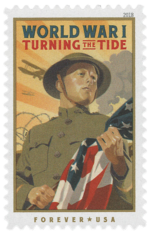 2018 First-Class Forever Stamp - World War I: Turning the Tide