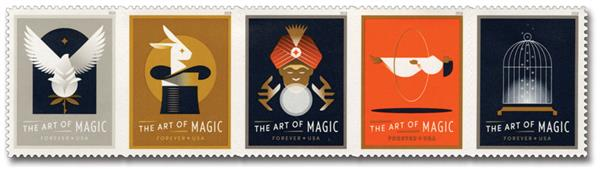 2018 First-Class Forever Stamp - The Art of Magic