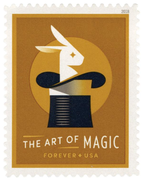 2018 First-Class Forever Stamp - The Art of Magic: Rabbit in the Hat