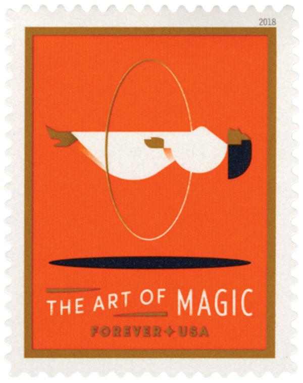 2018 First-Class Forever Stamp - The Art of Magic: Levitating Woman