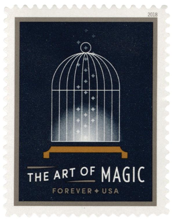 2018 First-Class Forever Stamp - The Art of Magic: Empty Bird Cage
