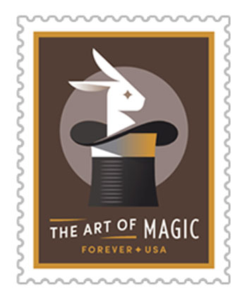 2018 First-Class Forever Stamp - The Art of Magic souvenir sheet single stamp