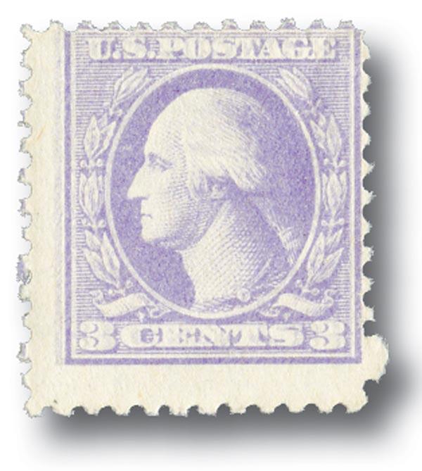 1918 3c Washington, purple, double impression