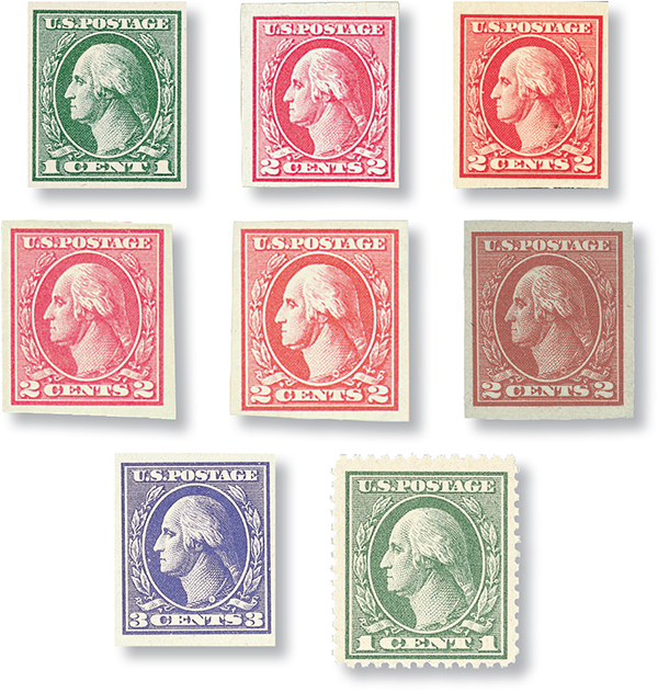 Complete Set, 1918-20 Offset Imperforate