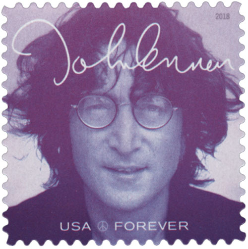 2018 First-Class Forever Stamp - Music Icons Series: John Lennon - Dark Violet
