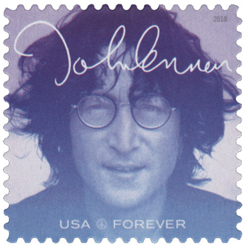 2018 First-Class Forever Stamp - Music Icons Series: John Lennon - Blue