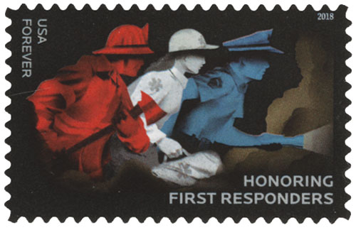2018 First-Class Forever Stamp - Honoring First Responders