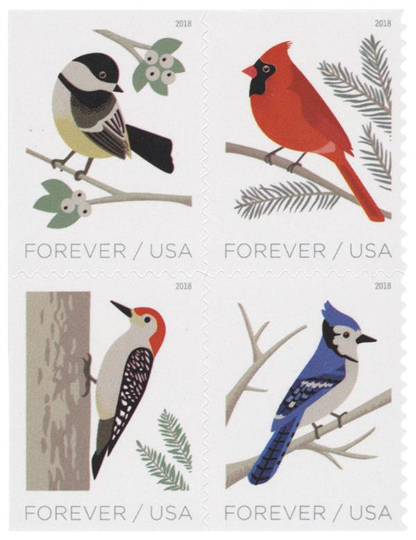 2018 First-Class Forever Stamp - Birds in Winter