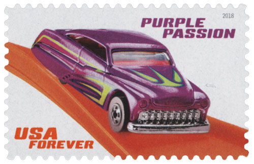 2018 First-Class Forever Stamp - Hot Wheels: Purple Passion 1990