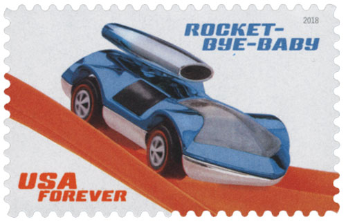 2018 First-Class Forever Stamp - Hot Wheels: Rocket-Bye-Baby - 1971