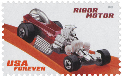 2018 First-Class Forever Stamp - Hot Wheels: Rigor Motor- 1994