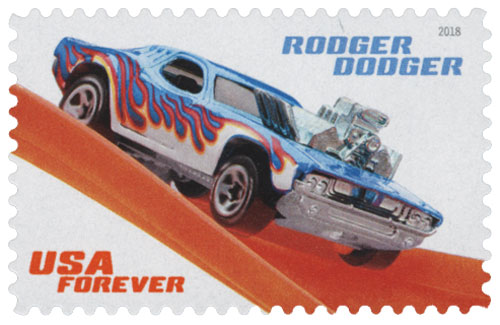 2018 First-Class Forever Stamp - Hot Wheels: Rodger Dodger- 1974