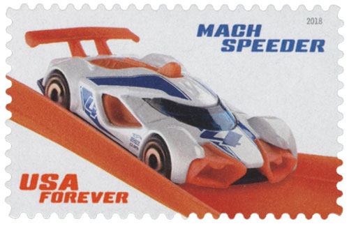 2018 First-Class Forever Stamp - Hot Wheels: Mach Speeder - 2018