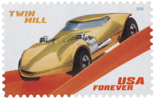 2018 First-Class Forever Stamp - Hot Wheels: Twin Mill - 1969